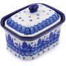 4-inch Stoneware Jar with Lid - Polmedia Polish Pottery H0792J