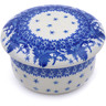 4-inch Stoneware Jar with Lid - Polmedia Polish Pottery H0979J