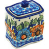 4-inch Stoneware Jar with Lid - Polmedia Polish Pottery H1006H