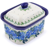 4-inch Stoneware Jar with Lid - Polmedia Polish Pottery H1161J