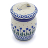 4-inch Stoneware Jar with Lid - Polmedia Polish Pottery H1206J