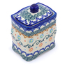4-inch Stoneware Jar with Lid - Polmedia Polish Pottery H1379J