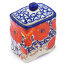 4-inch Stoneware Jar with Lid - Polmedia Polish Pottery H1380J
