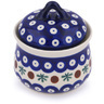 4-inch Stoneware Jar with Lid - Polmedia Polish Pottery H1420G