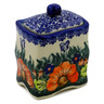 4-inch Stoneware Jar with Lid - Polmedia Polish Pottery H1469K