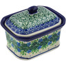 4-inch Stoneware Jar with Lid - Polmedia Polish Pottery H1968K