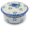 4-inch Stoneware Jar with Lid - Polmedia Polish Pottery H2368J