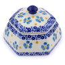 4-inch Stoneware Jar with Lid - Polmedia Polish Pottery H2410J