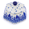 4-inch Stoneware Jar with Lid - Polmedia Polish Pottery H2432J