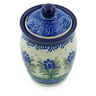 4-inch Stoneware Jar with Lid - Polmedia Polish Pottery H2798C