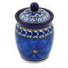 4-inch Stoneware Jar with Lid - Polmedia Polish Pottery H2828C