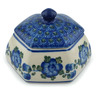 4-inch Stoneware Jar with Lid - Polmedia Polish Pottery H2830A