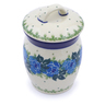 4-inch Stoneware Jar with Lid - Polmedia Polish Pottery H2850J