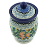4-inch Stoneware Jar with Lid - Polmedia Polish Pottery H2856C