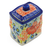 4-inch Stoneware Jar with Lid - Polmedia Polish Pottery H3102J