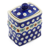 4-inch Stoneware Jar with Lid - Polmedia Polish Pottery H3120J