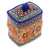 4-inch Stoneware Jar with Lid - Polmedia Polish Pottery H3223J