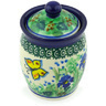 4-inch Stoneware Jar with Lid - Polmedia Polish Pottery H3672G