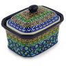 4-inch Stoneware Jar with Lid - Polmedia Polish Pottery H3890F