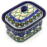 4-inch Stoneware Jar with Lid - Polmedia Polish Pottery H4109E