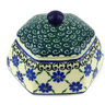 4-inch Stoneware Jar with Lid - Polmedia Polish Pottery H4234G
