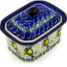 4-inch Stoneware Jar with Lid - Polmedia Polish Pottery H4281D