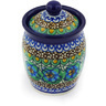 4-inch Stoneware Jar with Lid - Polmedia Polish Pottery H4468G