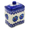 4-inch Stoneware Jar with Lid - Polmedia Polish Pottery H4582K