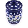 4-inch Stoneware Jar with Lid - Polmedia Polish Pottery H4628G