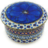 4-inch Stoneware Jar with Lid - Polmedia Polish Pottery H4971G