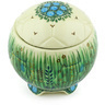 4-inch Stoneware Jar with Lid - Polmedia Polish Pottery H5356G
