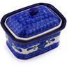 4-inch Stoneware Jar with Lid - Polmedia Polish Pottery H5509A