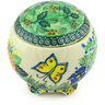 4-inch Stoneware Jar with Lid - Polmedia Polish Pottery H5550G