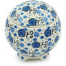 4-inch Stoneware Jar with Lid - Polmedia Polish Pottery H5581H