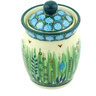 4-inch Stoneware Jar with Lid - Polmedia Polish Pottery H5867G