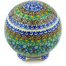 4-inch Stoneware Jar with Lid - Polmedia Polish Pottery H5871G