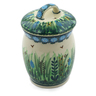 4-inch Stoneware Jar with Lid - Polmedia Polish Pottery H6085G
