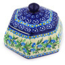4-inch Stoneware Jar with Lid - Polmedia Polish Pottery H6205F