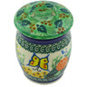 4-inch Stoneware Jar with Lid - Polmedia Polish Pottery H6235G