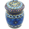 4-inch Stoneware Jar with Lid - Polmedia Polish Pottery H6251G