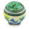 4-inch Stoneware Jar with Lid - Polmedia Polish Pottery H6371G