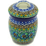 4-inch Stoneware Jar with Lid - Polmedia Polish Pottery H6593G