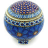 4-inch Stoneware Jar with Lid - Polmedia Polish Pottery H6769G