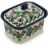 4-inch Stoneware Jar with Lid - Polmedia Polish Pottery H6941H
