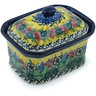 4-inch Stoneware Jar with Lid - Polmedia Polish Pottery H6942H