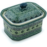 4-inch Stoneware Jar with Lid - Polmedia Polish Pottery H6943H