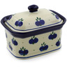 4-inch Stoneware Jar with Lid - Polmedia Polish Pottery H7123B