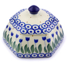 4-inch Stoneware Jar with Lid - Polmedia Polish Pottery H7191I