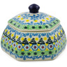 4-inch Stoneware Jar with Lid - Polmedia Polish Pottery H7345J