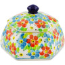4-inch Stoneware Jar with Lid - Polmedia Polish Pottery H7347J